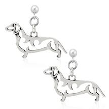 Dachshund Sterling Silver Earrings