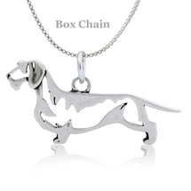 Wirehair Dachshund Sterling Silver Necklace