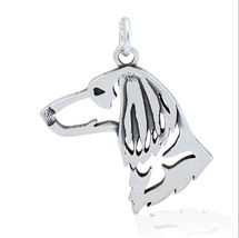 Longhair Dachshund Sterling Silver Necklace