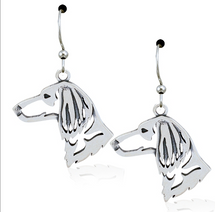 Longhair Dachshund Jewelry Sterling Silver Earrings