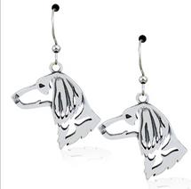 Longhair Dachshund Sterling Silver Earrings