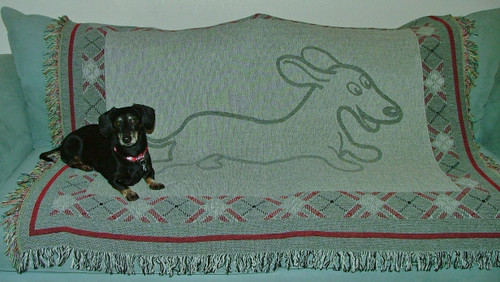 Dachshund Tapestry Throw Blanket