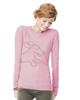 Dachshund Thermal Shirt Pink
