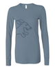 Dachshund Thermal Shirt Steel Blue
