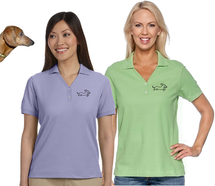 Ladies Embroidered Dachshund Polo Shirt