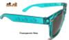 Dachshund Sunglasses Transparent Blue