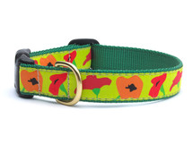 Poppies Dog Collar