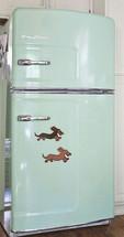 Longhair Dachshund Refrigerator Magnets