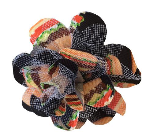 Dog bow, Dog flower bow, dog flower bud, dog bacon, dog collar accessories, dachshund bow ties, dachshund flower buds, dachshund fun buns, dachshund hot dog collar