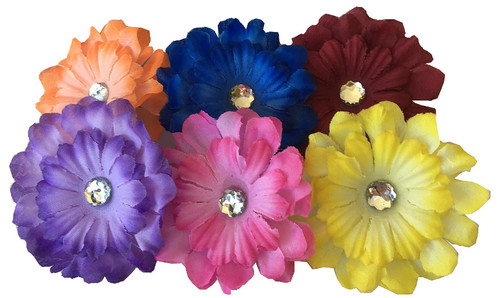 Dog Silk Collar Flowers, Dachshund Silk Collar Flowers, Dog Collar Bows