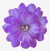 Dog Silk Collar Flowers Purple