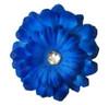 Dog Silk Collar Flowers Blue