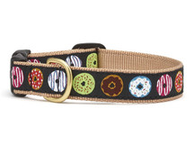 Donuts Dog Collar, Up Country Collar, Ribbon dog collar, dachshund dog collar, funny dog collar, novelty dog collar, doughnuts dog collar