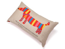 Dachshund pillow, Dr. Seuss pillow, decorative pillows, dachshund throw pillow, wiener dog pillow, dachshund toss pillow, lumbar pillow, dachshund lumbar pillow, dachshund gift