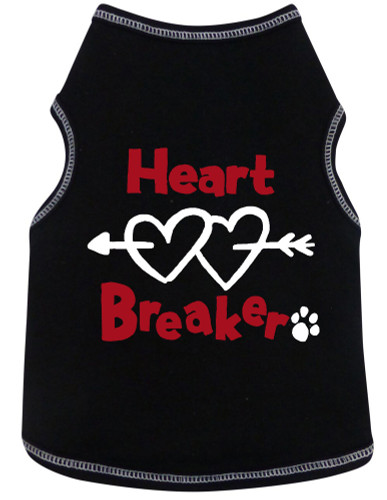 Heart Breaker Tank Style Dog Shirt