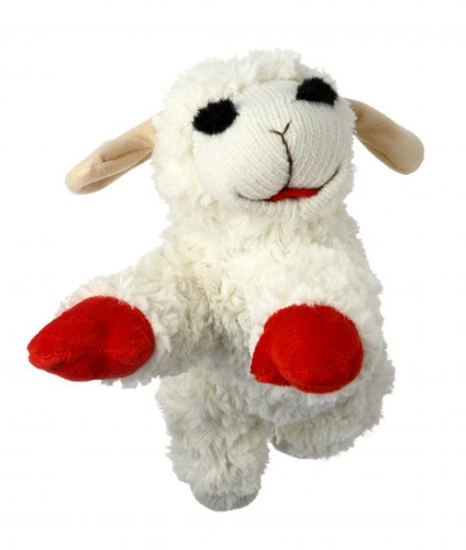 "Lamb Chop Mini 6"" Dog Toy"