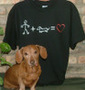 Stick Figure Love Dachshund T-Shirt