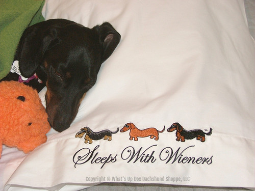 Sleeps with Wieners Dachshund Pillowcases
