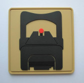 SUAREZ RED DOT PISTOL PVC PATCH - FDE (VELCRO BACK)