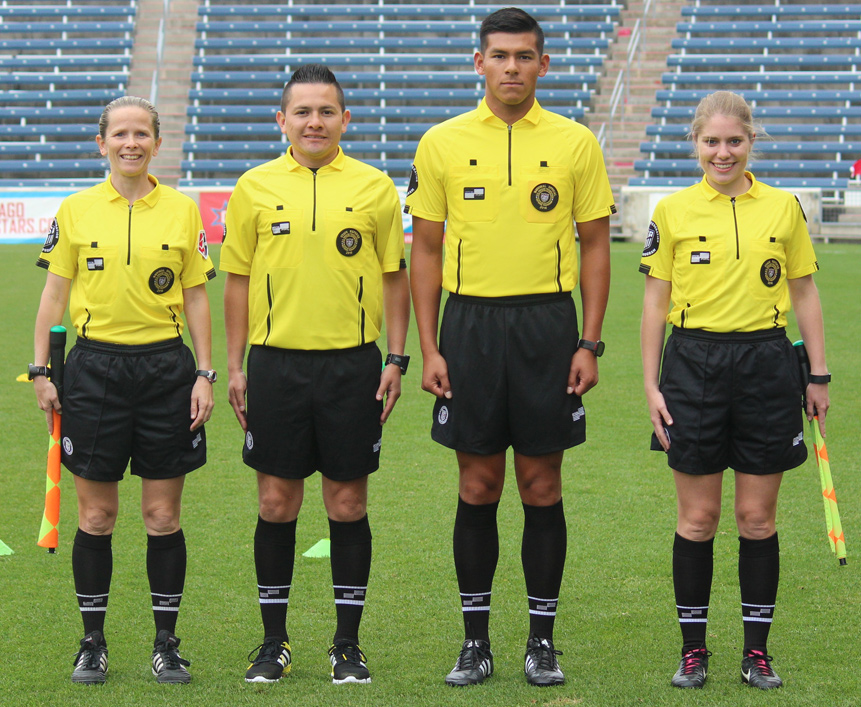 1f11c11e2 U.S. Soccer Federation Debuts New Referee Uniform from Official Sports  International at NWSL Matches