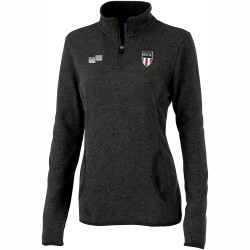 W2321N NISOA Women's Heathered Fleece Pullover