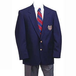 1241N Navy Single Blazer W/NISOA Logo