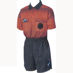 5015NC NISOA Coolwick SS Orange Grid Shirt