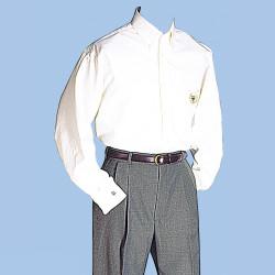 2061WN NISOA White Mens Dress Shirt