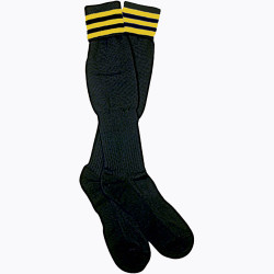 1309G The Italian Ref Sock, Gold Stripe