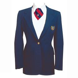 1248PN NISOA Navy Womens Poly/Wool Sgl Brst Blazer