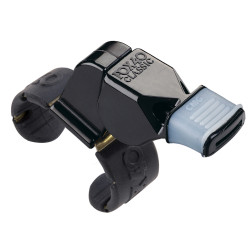 1410MG Fox 40 Black Fingergrip Whistle W/Mouthgrip