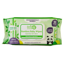 Baby U Bamboo Wipes (80 Pack)