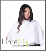 LimeLily White half makeup cape