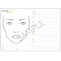 LimeLily Face Charts