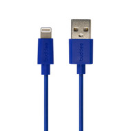 Buddee Lightning to USB MFI Round Cable 1m - Blue - BD401040-BL
