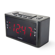 Buddee Digital Alarm Clock Rad AM/FM 1.2in LED Display - BK - BD903206-BK