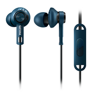 Philips ActionFit In-EarGel with Mic - SHQ2405BL