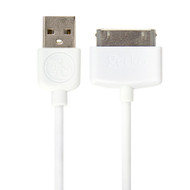 Gecko 30 pin to USB Cable Round 3m - White