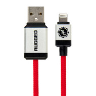 Gecko Rugged Lightning to USB Round Cable 1.5m - Red