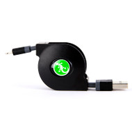 Gecko Retractable Lighting to USB Flat Cable 80cm - Black