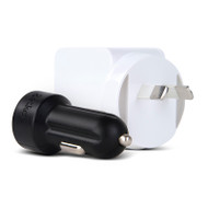 Gecko USB Wall & Car Charger Bundle - 2.4 Amp