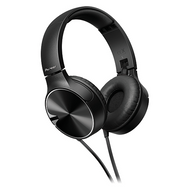 Pioneer Enclosed Bass Dynamic Headphones w Mic - Black - SEMJ722TK