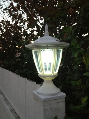 2 Pk Premium Solar Hexagon Light W Wall Mount Or Fence