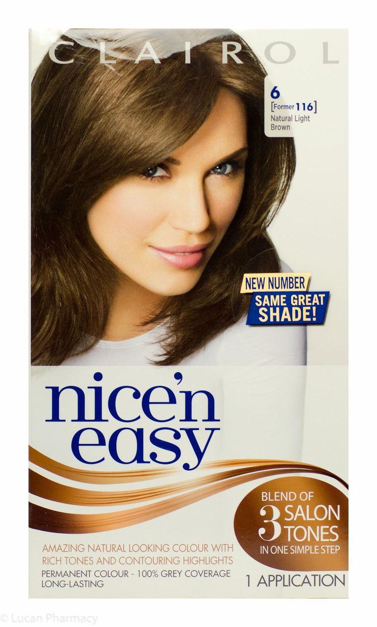 Clairol 174 Nice N Easy 174 6 Natural Light Brown Lucan