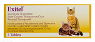Exitel® Flavoured Film-Coated Tablets For Cats - 2 Tablets