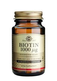 Solgar® Biotin 1000µg – 50 Capsules
