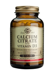 Solgar® Calcium Citrate With Vitamin D3 – 60 Tablets