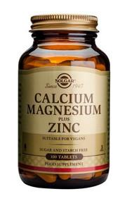 Solgar® Calcium Magnesuium Plus Zinc – 100 Tablets