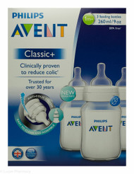 Lucan Pharmacy AVENT Classic + Feeding Bottles 260ml - 1 Mnth+ (3 Pack)