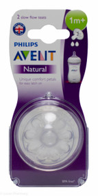 Lucan Pharmacy  AVENT Natural Teats 2 Hole Slow Flow 1 Mnth+ (2 Pack)